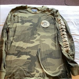 Abercrombie long sleeve Camo shirt SZ Large